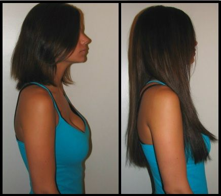 before and after tape hair extensions