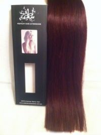 burgundy red hair extensions