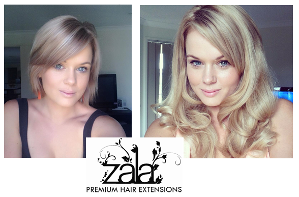 Short hair extensions- ZALA hair extensions