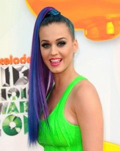 Katy's, long and luscious rainbow ponytail