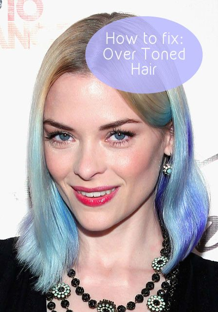 how to fix over toned hair