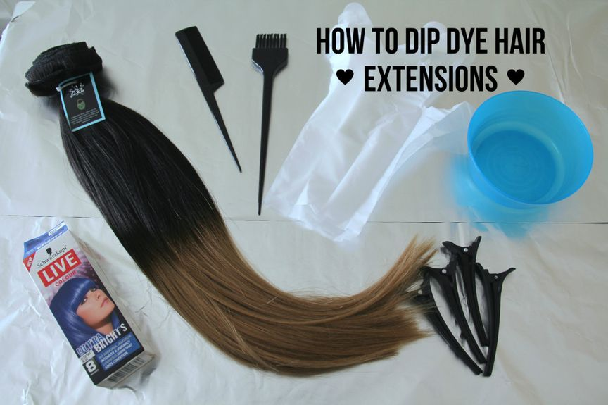how to dip dye hair extensions