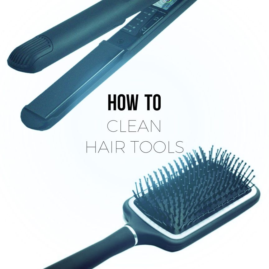 how to clean hair tools