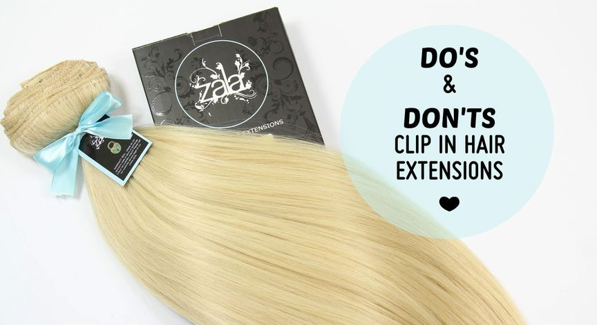 do's and don'ts of clip in hair extensions