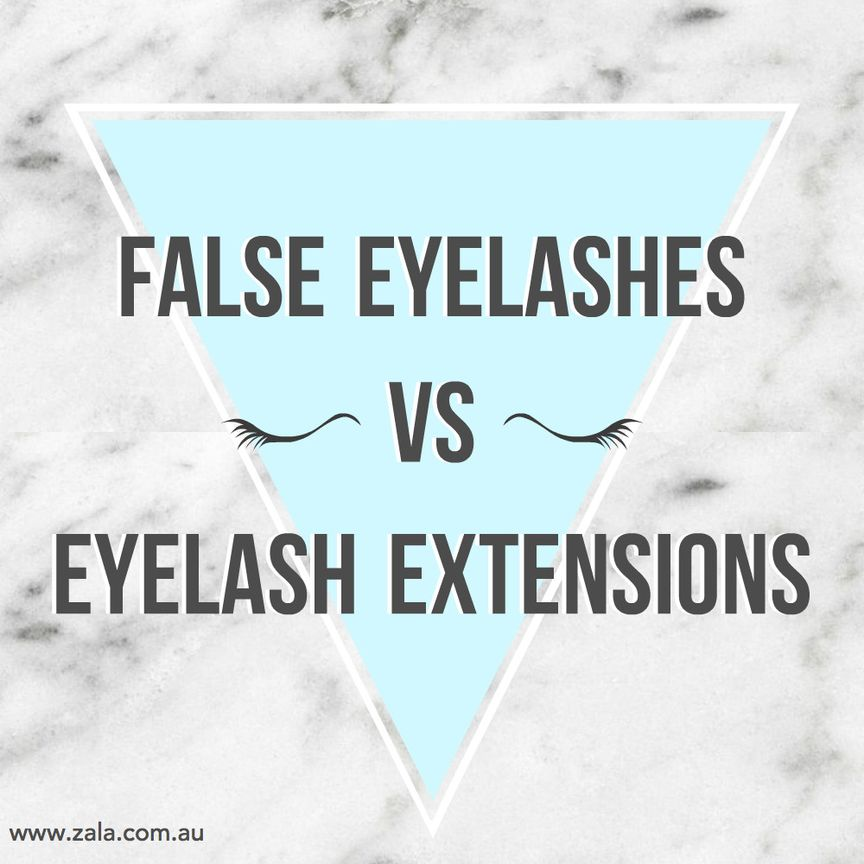 false eyelashes vs eyelash extensions