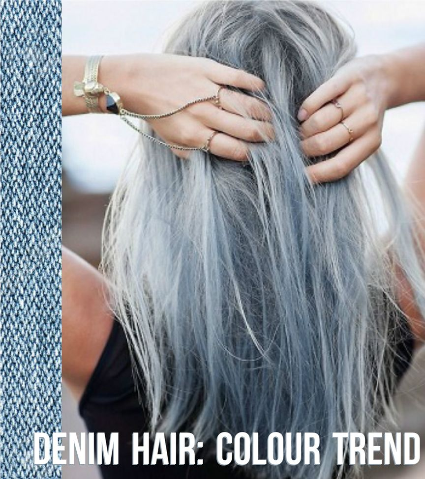 denim hair