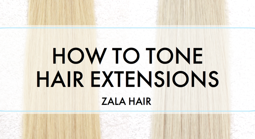 how to tone tape hair extensions