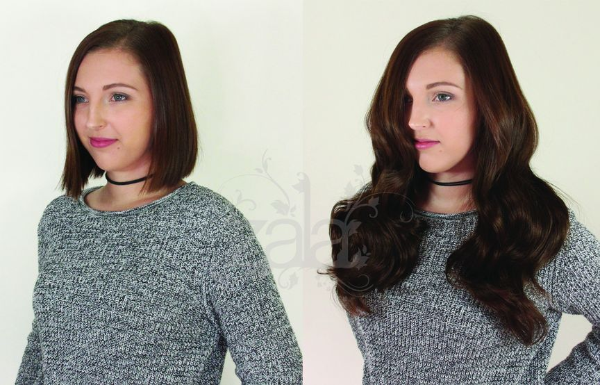 how to blend clip in hair extensions with short hair