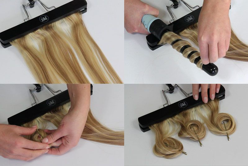 how to curl clip in hair extensions