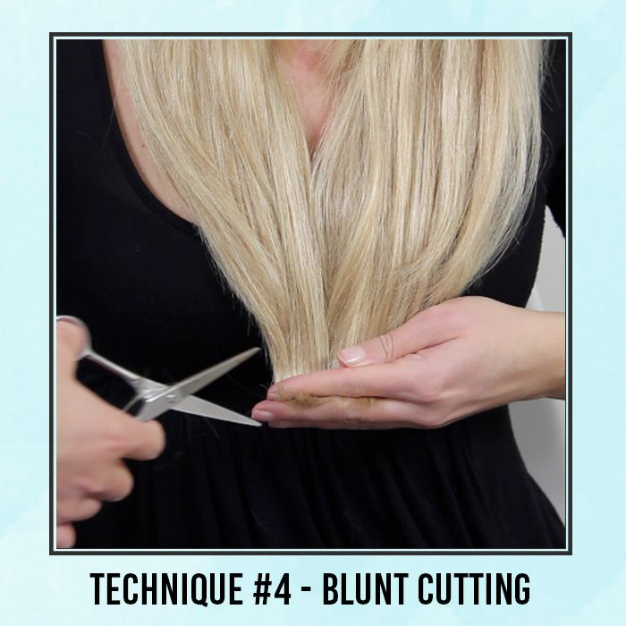 how to cut hair extensions to blend