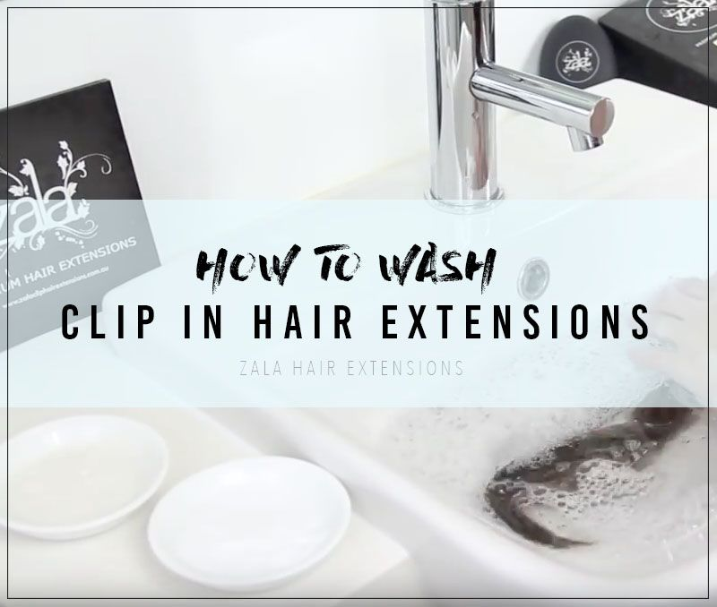 how to wash clip in hair extensions