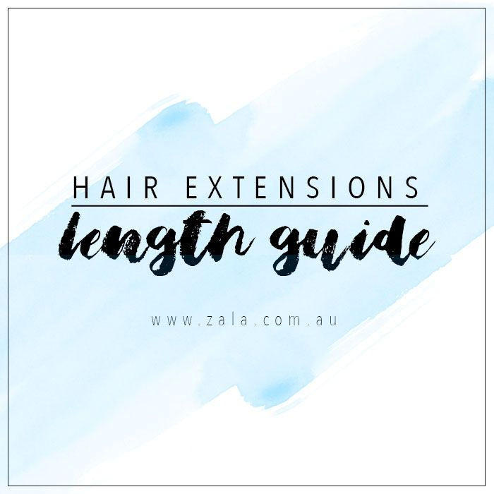 hair extensions length guide