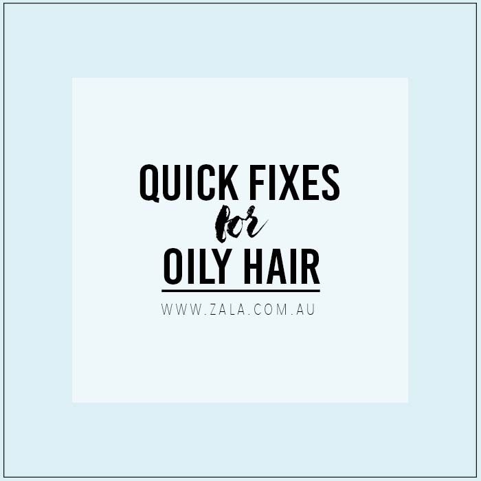 quick fixes for greasy hair