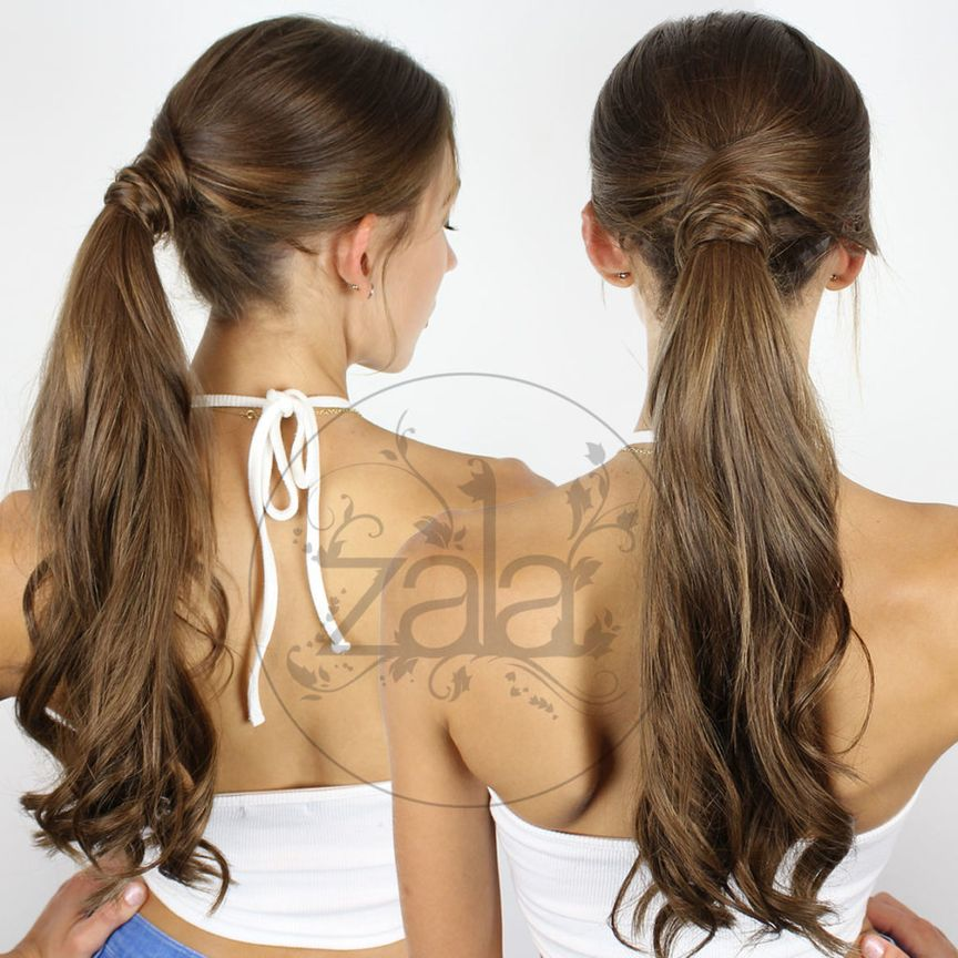 ponytail with tape hair extensions
