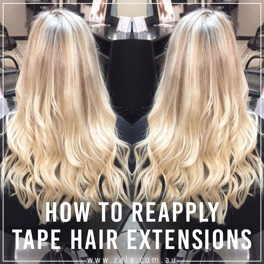 how to reapply tape hair extensions