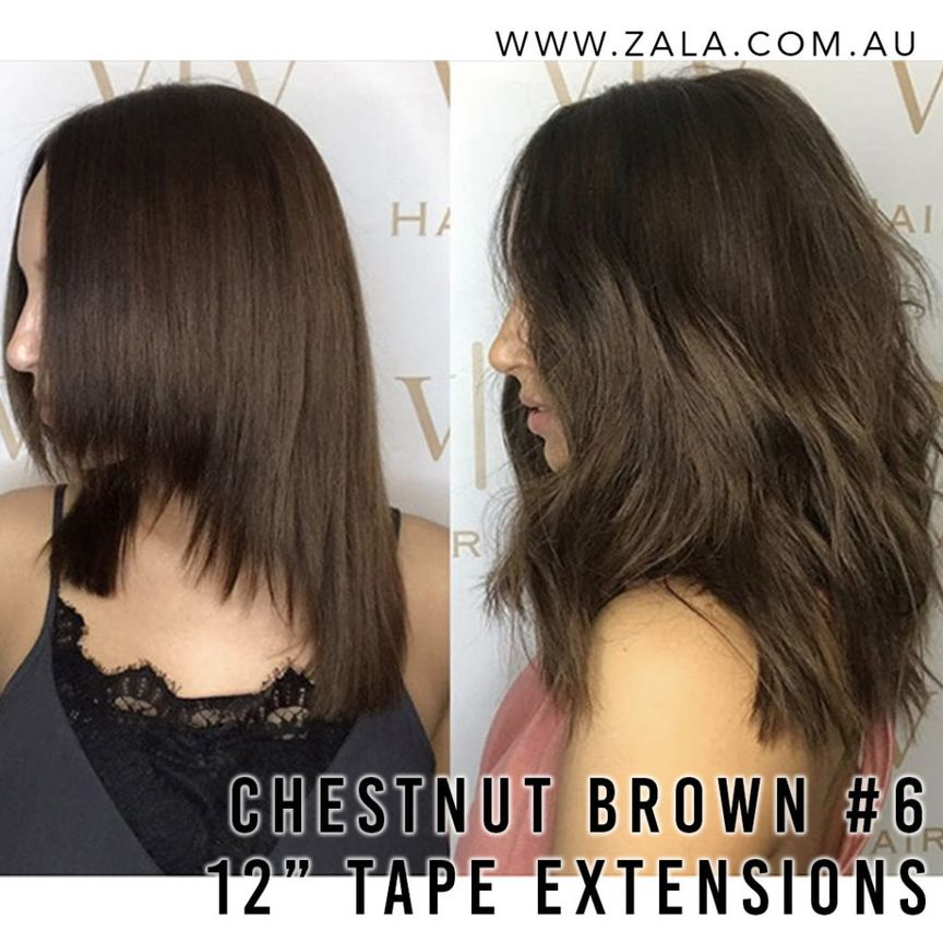 Tape extensions for very short hair