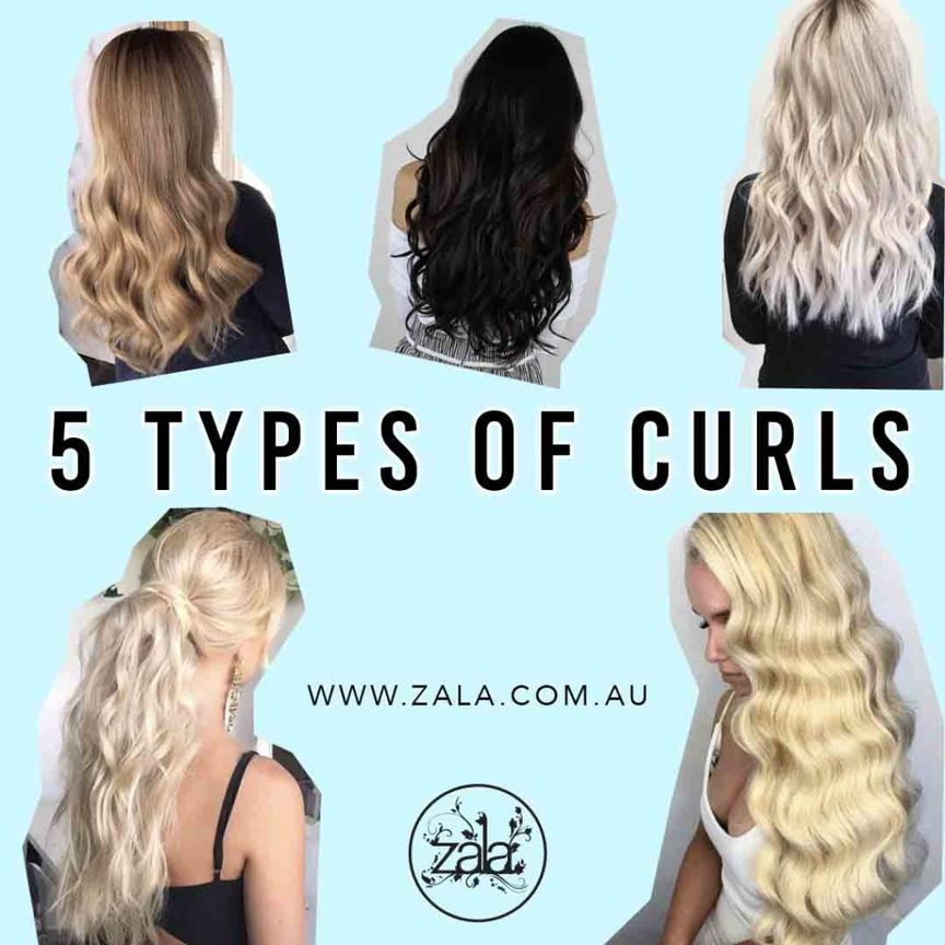 5 types of curls