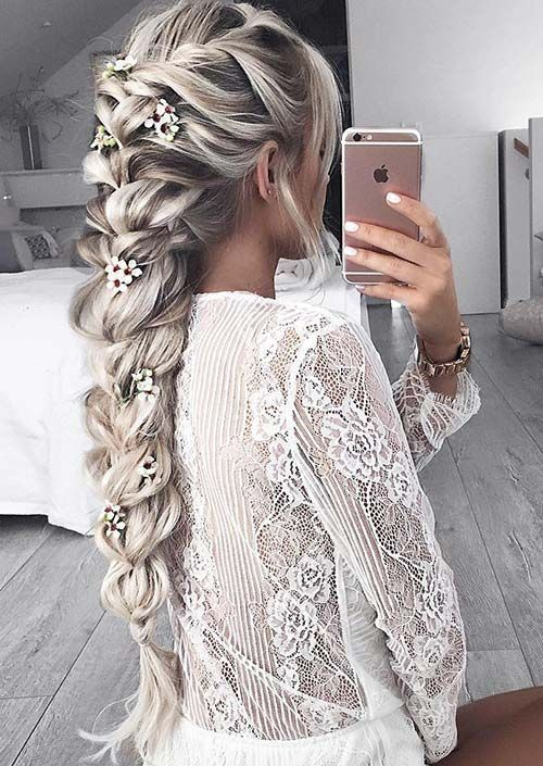 zala romantic floral hairstyles