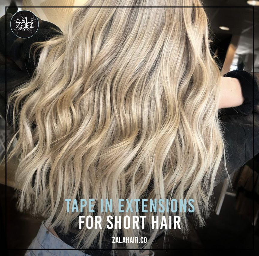 tape-in extensions for short hair