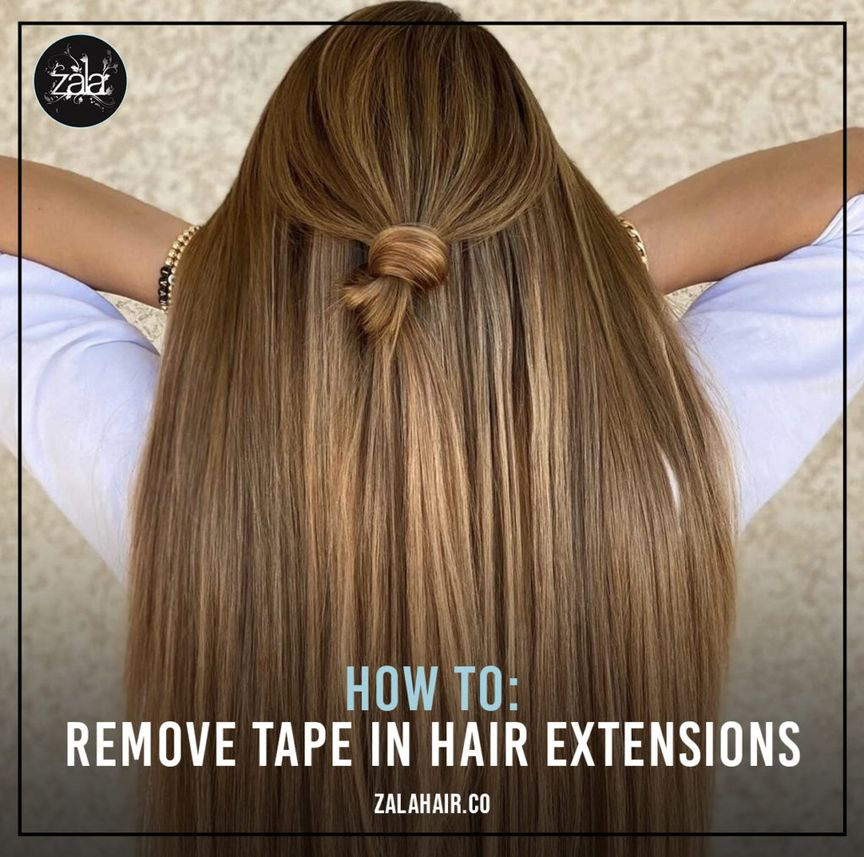 remove tape-in  extensions