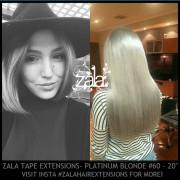 ZALA TAPE HAIR EXTENSIONS, PLATINUM #60 - 20 INCH