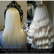 ZALA TAPE HAIR EXTENSIONS, PLATINUM #60 - 24 INCH