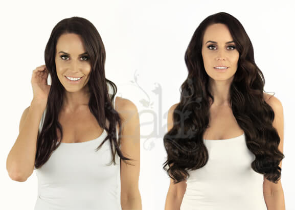 Dark brown clip in human hair extensions 20 inch prevnext pmusecretfo Choice Image