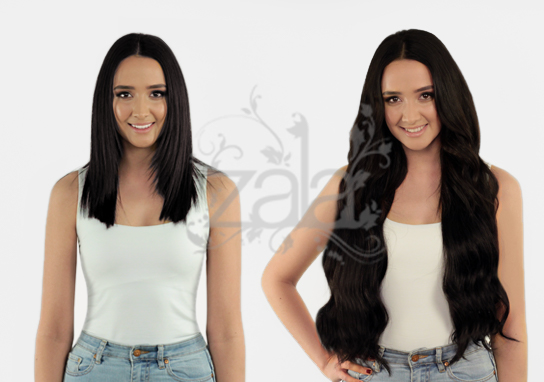 Natural black 100 remy clip in human hair extensions 30 inch prevnext pmusecretfo Images