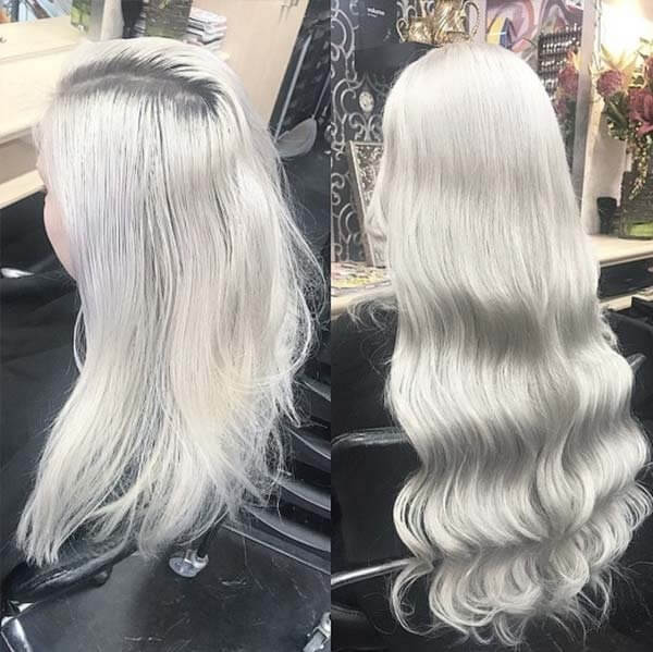 Platinum Blonde Clip In Hair Extensions Triple Wefted 100 Human