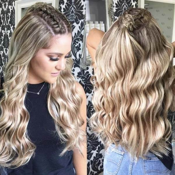 Sun Kissed Highlighted Clip In Human Hair Extensions Pure Remy Hair