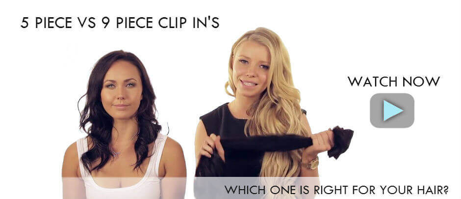 Choose 5 or 9 piece hair extensions