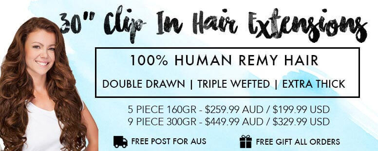 30 Inch Clip in hair extensions by ZALA