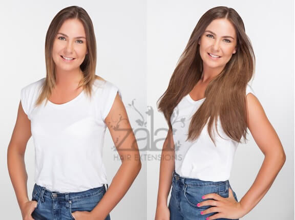 Before and after #6 hair extensions