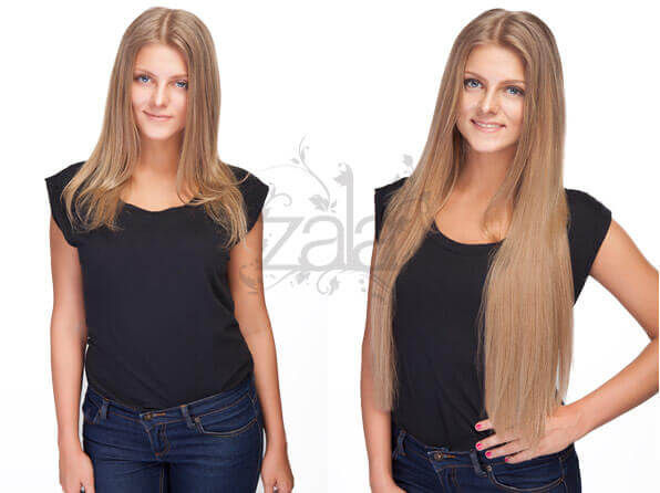 Before and after clip in hair extensions gallery short to long before and after zala dark blonde hair extensions pmusecretfo Choice Image