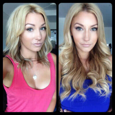 before and after zala hair extensions