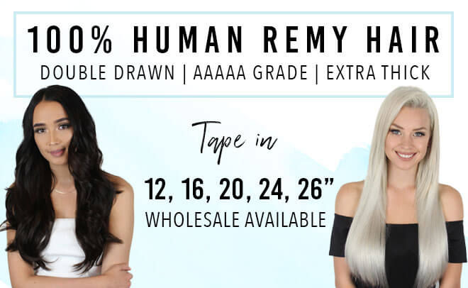 Tape Hair Extensions Made From Human Remy Hair
