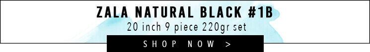 Natural black #1B Clip Hair extensions