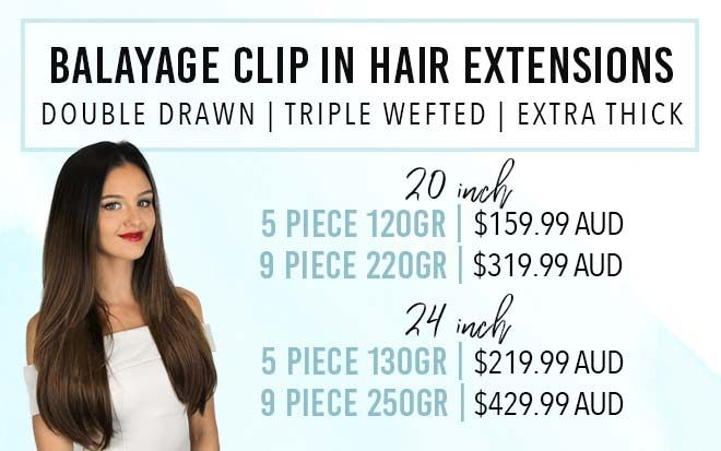 Ombre balayage hair extensions