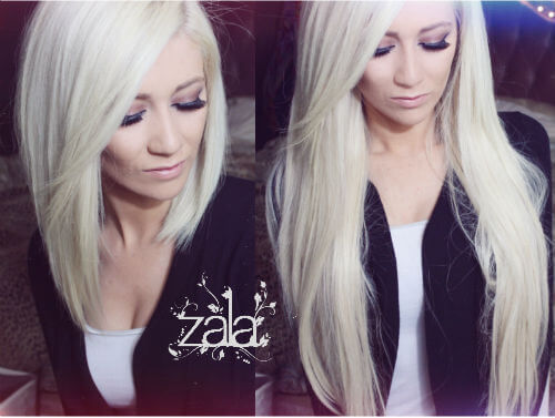 Platinum Blonde Hair Extensions 24 Inch 105
