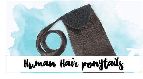 Human hair Clip Ponytails by ZALA