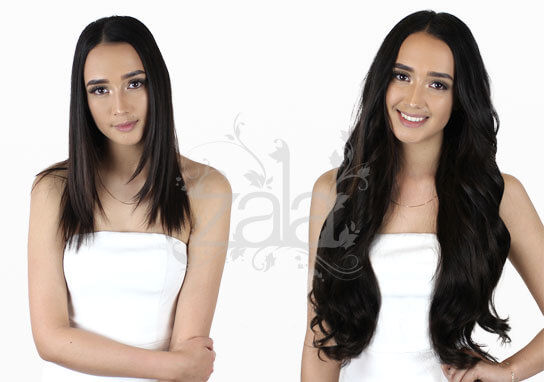 Before and after clip in hair extensions gallery short to long natural black 1b hair extensions pmusecretfo Choice Image