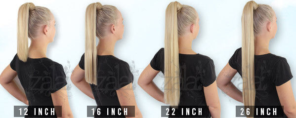 Pony tail clip in hair extensions 162226 inch 120gr 100 human remy hair pmusecretfo Choice Image
