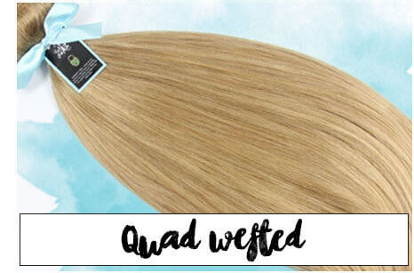 Browse 20 & 24 inch Quadwefted Hair extensions