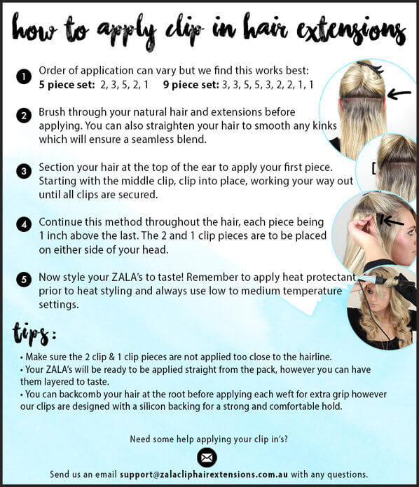 How to Apply ZALA Clip hair extensions