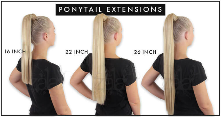 Keratin ponytail clip in hair extensions 16 22 26 inch 150gr ponytail hair extensions length guide pmusecretfo Choice Image