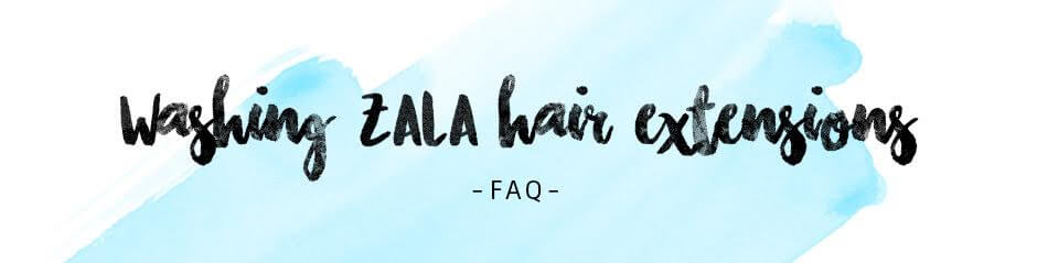 Washing hair extensions, How to wash clip in hair extensions